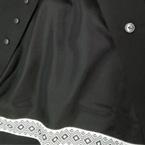Zwarte voering met zwart/wit grafisch lint