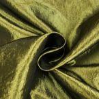 olijfgroene taft zijde